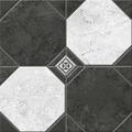 Плитка из керамогранита Керамин Лимбург 7Д тип 2 Керамогранит черно-белый микс