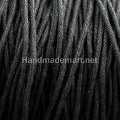 Шнур Вощеный, Хлопок, 1,5 мм, Черный, 1мм