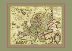Новая Европа Йодокуса Хондиуса, 68х48 см