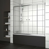 Шторка для ванны Radaway Vesta DWD 150 хром+фабрик