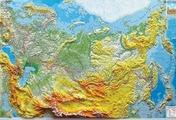 Рельефная карта России, арт. 1322 Тестплей