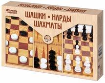 """Игра настольная """"Десятое королевство"""" """"Шашки, Нарды, Шахматы"""" (большие)"""