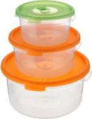 Ланчбокс (3 контейнера пластик)