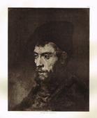 Голова еврея с каштановой бородой. Рембрандт Харменс ван Рейн. Гелиогравюра, 1900 год