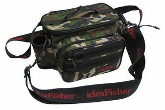 Stakan-100 Лайтовик камуфляж Шейно-поясная сумка с держателем удилища