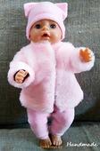 Одежда для куклы Baby Born - Полушубок Сasual Handmade розовая