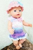 Набор одежды для куклы Baby Born - Французский стиль Krispy Handmade