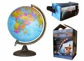 Интерактивный политический глобус с подсветкой от батареек, d=32 см Глобусный мир 17010