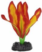 """Растение для аквариума Barbus """"Эхинодорус Бартхи"""", шелковое, цвет: красный, желтый, высота 10 см"""