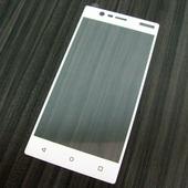 для Nokia 3 Защитное стекло Ainy Full Screen Cover 2,5D 0,33 мм белое
