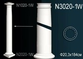 Лепнина Перфект Декоративная колонна N3020-1W