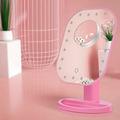 Настольное зеркало для макияжа с подсветкой и увеличением ShineMirror TD-002-01 розового цвета