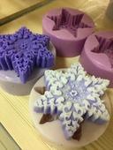 Снежинка ажурная Форма силиконовая 3D