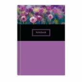 """Записная книжка """"Ноутбук"""" Феникс+, арт. 47782, лиловые цветы"""