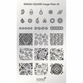 Konad, Пластина для стемпинга Square Image Plate 28