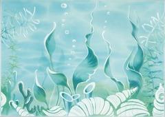 Beryoza Ceramica Декор Лазурь морское дно бирюзовый 350x250