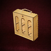 Деревянная коробка «Для пива» (3 бутылки)