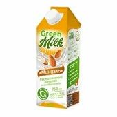 """Растительный напиток на рисовой основе """"Миндаль"""" Green Milk, 750 мл."""