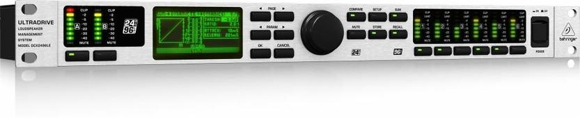 Behringer DCX2496LE Цифровая сиcтема управления громкоговорителями 24 бит/ 96 кГц (3 вх., в т.ч. AES/EBU, 6 вых., динамическая обработка, эквализация, кроссоверизация, линии задержки, RS-232, RS-485)
