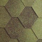 Гибкая битумная черепица RoofShield Стандарт Classic C-S-7 Зеленый антик