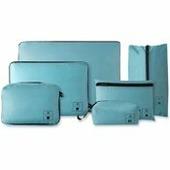 Набор упаковочных сумок для чемодана Xiaomi 90 Points Base Storage Bag Set 6 шт. (Голубой)