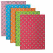 Цветная пористая резина для творчества (пенка в листах), А4, 210х297 мм, BRAUBERG, 5 лист., 5 цв., узор из бле