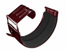 Соединитель водосточного желоба Grand Line Optima 125/90, круглое сечение, красный