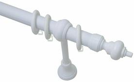 "Карниз Эскар ""Эконом"", металл/пластик, однорядный, цвет: белый, длина 140 см"