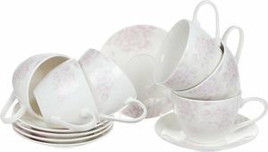 Чайный набор на 6 персон, 315 мл/14,5 см, костяной фарфор, Peonies, Esprado, PEO031PE304