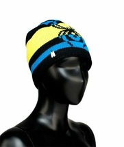 Шапка Spyder Youth Boy'S Mission Hat (one size, black/acid/stratos blue, 2014-2015)