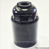 Патрон карболитовый подвесной, Е-27, черный