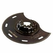 Насадка для МФИ Практика, отрезная, полукруг, по металлу и дереву, биметаллическая, 88 мм {240-232}