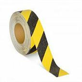 Эластичная (без абразива) противоскользящая фотолюминисцентная лента, желто-черная (25 мм x 6 м) {M3FR025060}