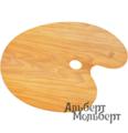 Палитра художественная овальная Capelletto из орехового дерева 30x40 см