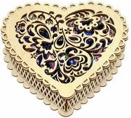 """Чернослив шоколадный Кремлина """"Сердце"""", в подарочной конфетнице, 400 г"""