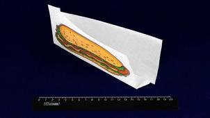 Уголок бумажный с печатью Хот-Дог 225мм*80мм*40мм (100шт).3830/915