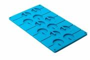 """Форма силиконовая 3D Bradex """"Круг"""", цвет: голубой, 12 ячеек"""