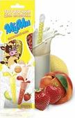 """МуМи трубочка для молока """"Сливочный микс"""" со вкусами: клубника-сливки, шоколад-сливки, персик-сливки, дыня-сливки, ежевика-сливки, 30 г"""