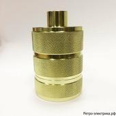 "Ретро патрон ""ASR Light Gold RS-02"", материал: алюминий, цвет: светлое золото, 3 круга, с кольцом"