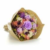 Букет из сухих и стабилизированных цветов Гарден лиловый