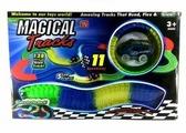 RF Гоночная трасса Magic Tracks Автотрек Track Car 128 деталей (гибкий, светится в темноте)
