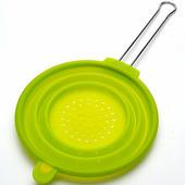 """Дуршлаг """"Mayer & Boch"""", силикон, 20 см, с ручкой, зеленый"""