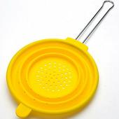 """Дуршлаг """"Mayer & Boch"""", силикон, 20 см, с ручкой, желтый"""