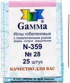 """Иглы ручные """"Gamma"""", гобеленовые, с закругленным острием, 28, 25 шт"""