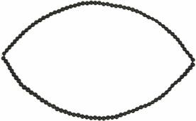 """Бусины стеклянные на нити """"Zlatka"""", цвет: черный, диаметр 4 мм, длина нити 40,6 см"""