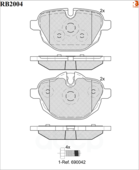 Дисковые Тормозные Колодки R Brake R BRAKE арт. RB2004