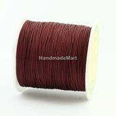 Шнур нейлон, 0,5 мм, Бордовый