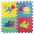 Коврик-пазл Играем вместе коврик сборный союзмультфильм, С машинками, 10 сегментов, 28*28СМ В пакете, 253259