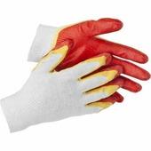 "перчатки трикотажные, двойная обливная ладонь из латекса, х/б, 13 класс, L-XL STAYER ""MASTER"" 11409-XL 11409-XL"