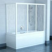 Боковая шторка для ванны Ravak APSV-75 белый+транспарент